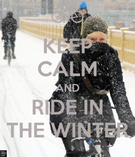 A true Lady rides in snow storms... and looks lovely doing it.Photo courtesy of Hungarian Cycle Chic