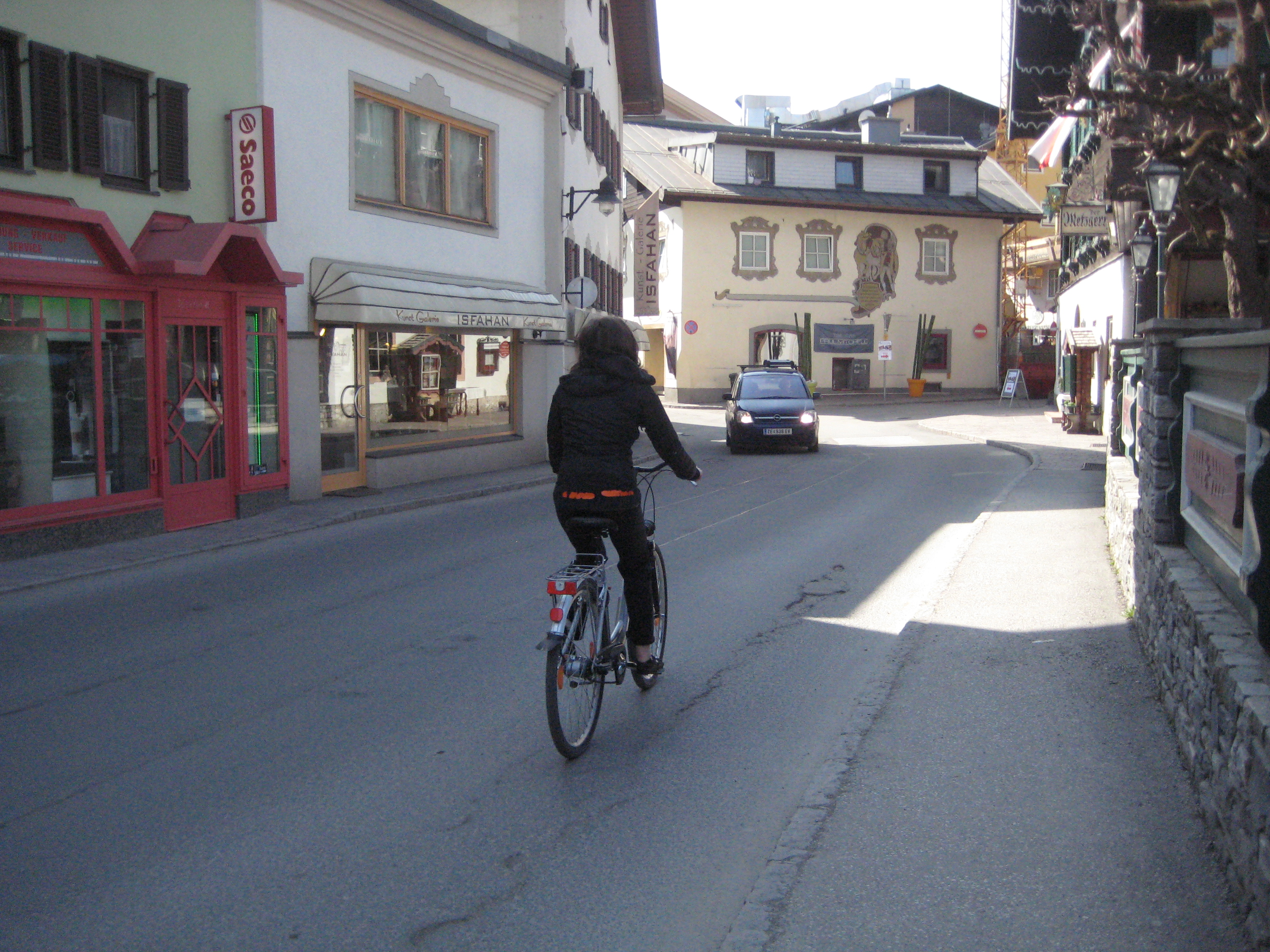 Me! Loving life atop two-wheels on the streets of a small Austrian town